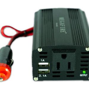 Convertidor de corriente para carro - entrada USB y trifásica